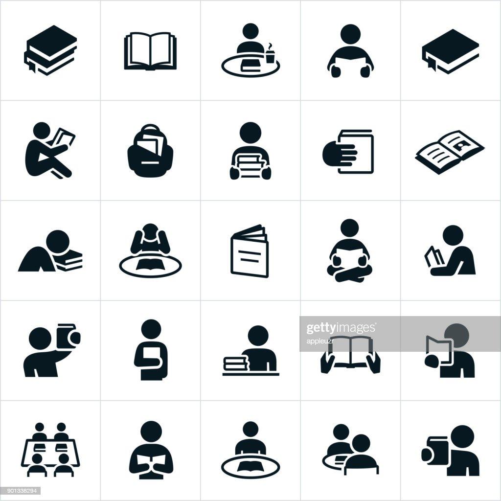 Reading Icons : stock illustration