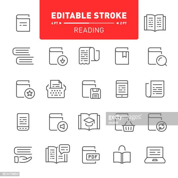 reading icons - enciclopedia stock illustrations, clip art, cartoons, & icons