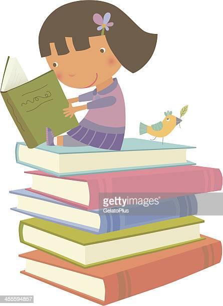 ilustrações, clipart, desenhos animados e ícones de leitura é divertido! - livro de capa dura