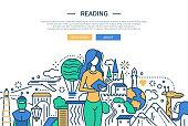 Reading - line design website banner