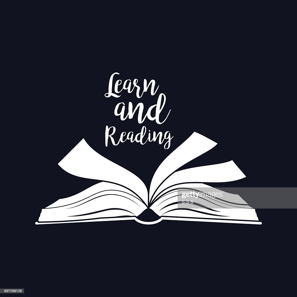 Reading motivation card with open book