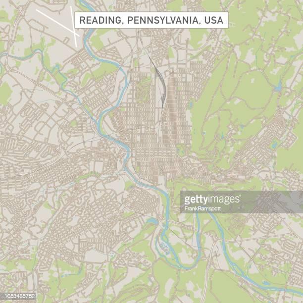 Reading Pennsylvania USA Stadtstraße Karte