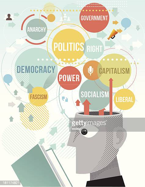 reading political terms - socialism stock illustrations