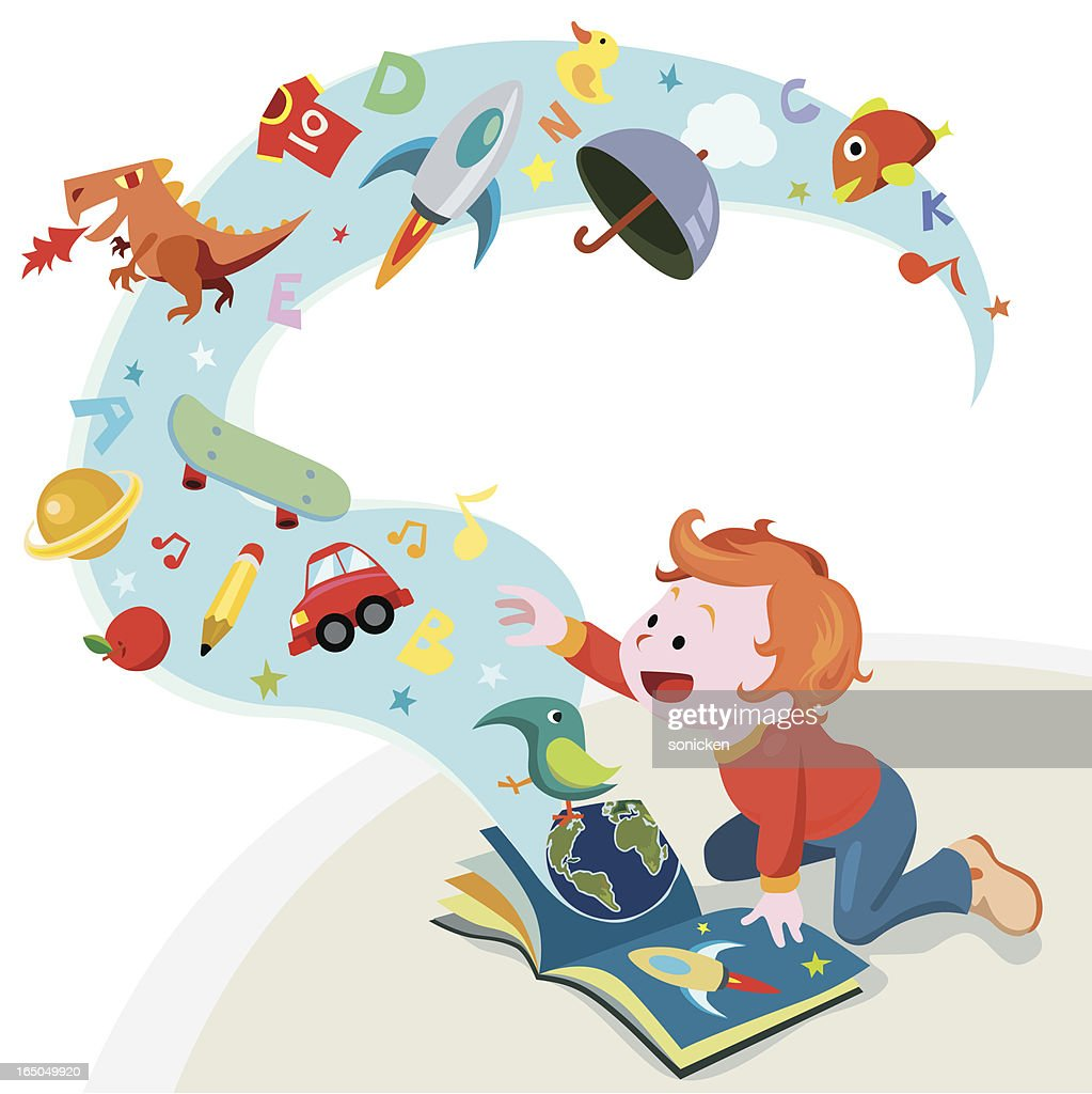 reading story book : stock illustration