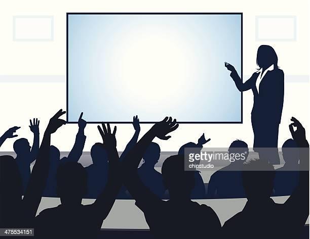 stockillustraties, clipart, cartoons en iconen met reading - presentatie toespraak