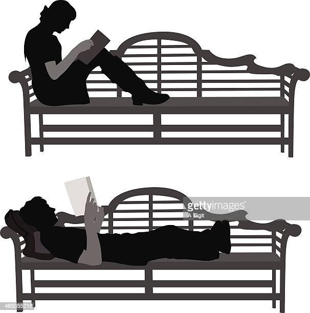 readingbooks - bad posture stock illustrations, clip art, cartoons, & icons