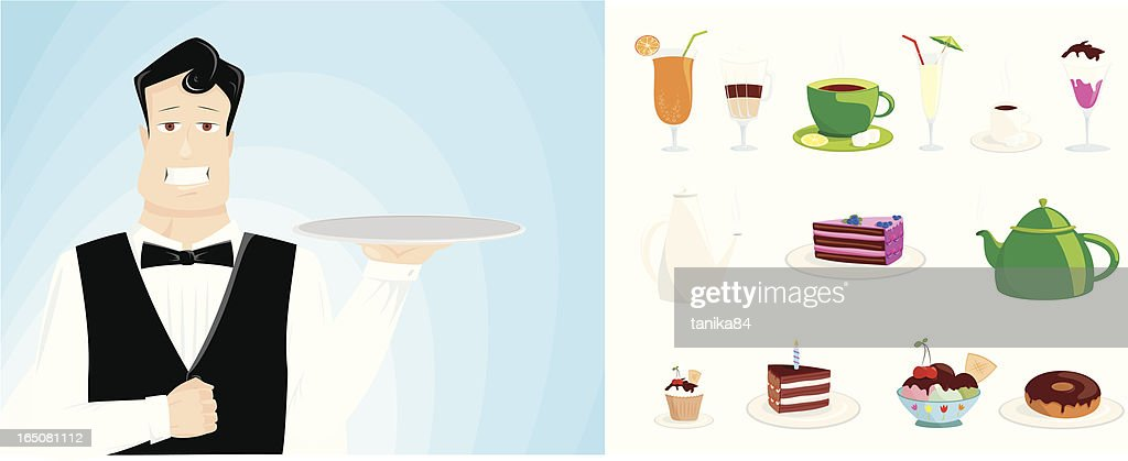 ready to serve : stock illustration
