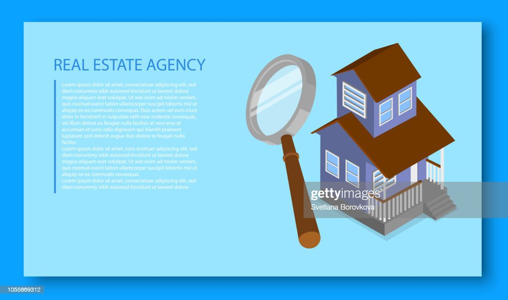Real estate agency. Landing page template.