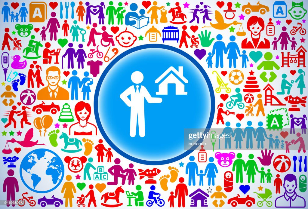 Real Estate Agent Selling House Family And Parenthood Vector