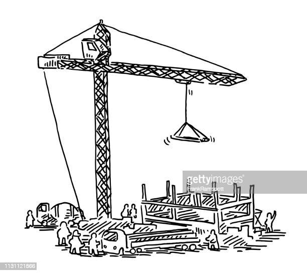 Immobilien-Baustellengelände Kranbau