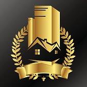Real estate business golden design