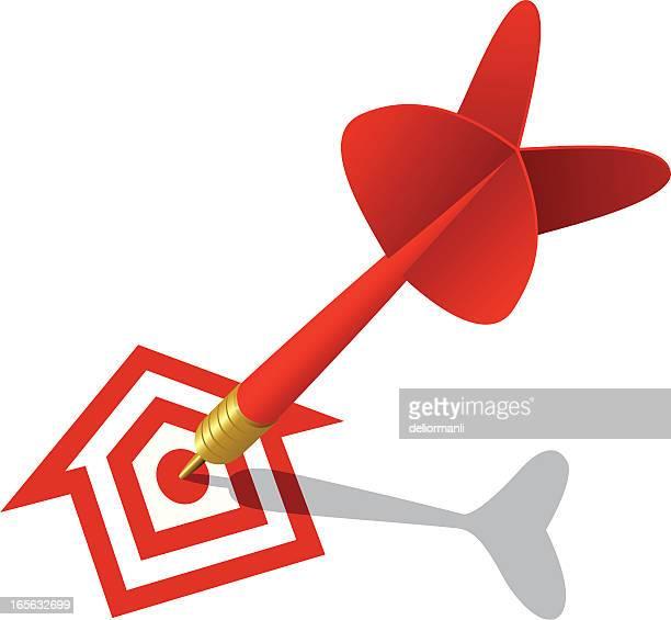 real estate concept - dart stock illustrations, clip art, cartoons, & icons