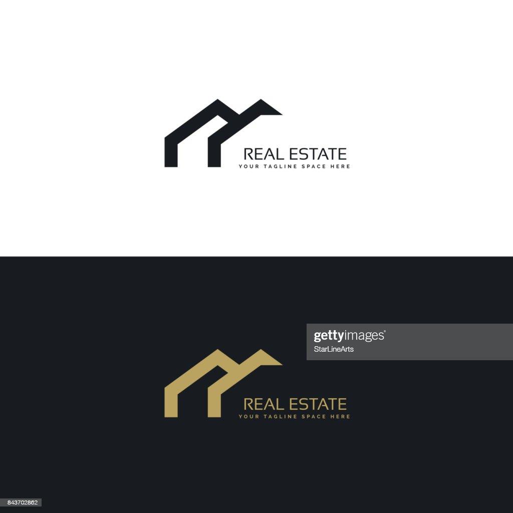 real estate creative  design in minimal style