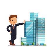 Real estate developer entrepreneur concept