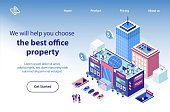 Real Estate for Business Isometric Vector Website