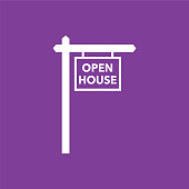 Real Estate For Open House Icon