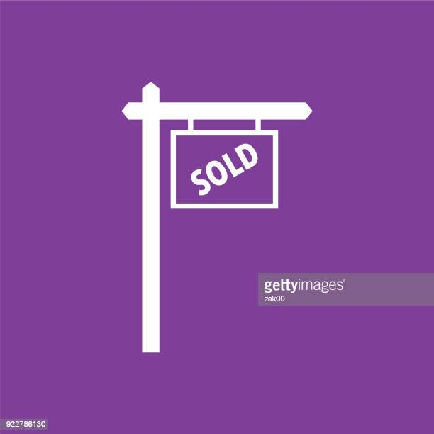 Real Estate For Sold Icon