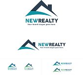 Real Estate icon, House Roof Symbol, Residential Brand