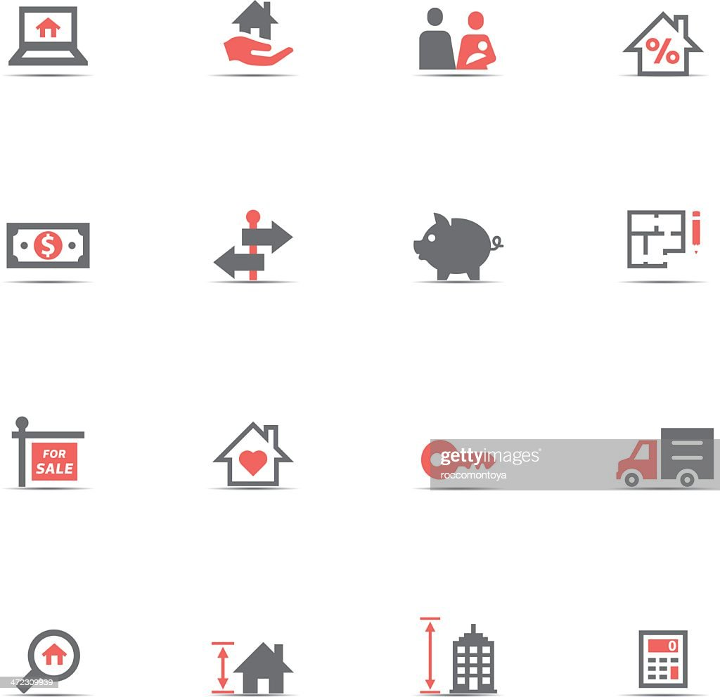 Real estate icon set isolated on a white background