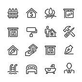 Real Estate Icon Set - Line Series