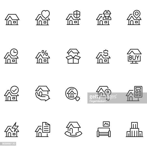 Immobilien-icon-set