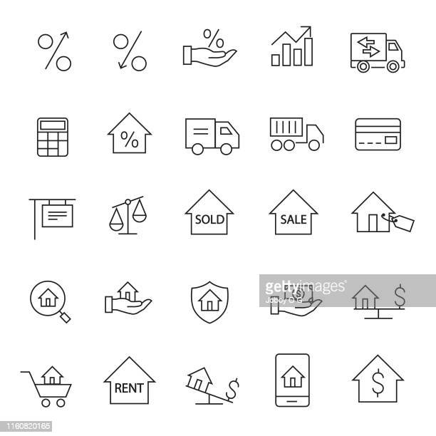 real estate icon - commercial real estate sign stock illustrations