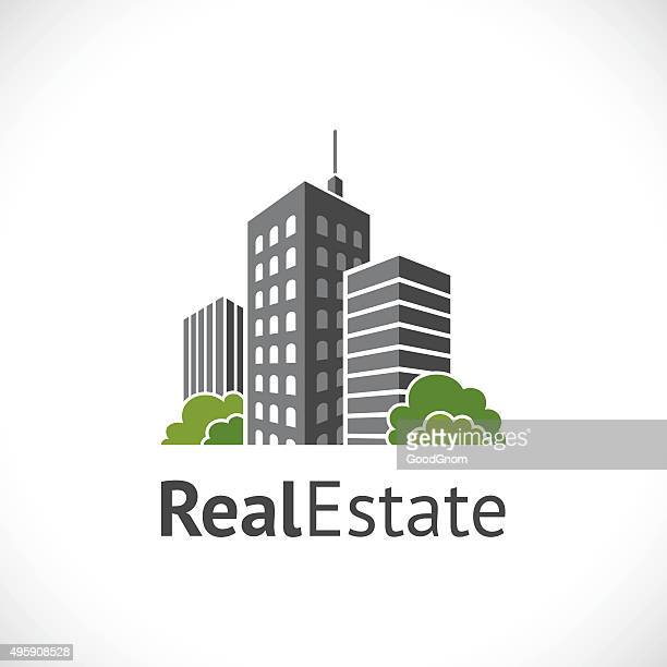real estate icon - skyscraper stock illustrations