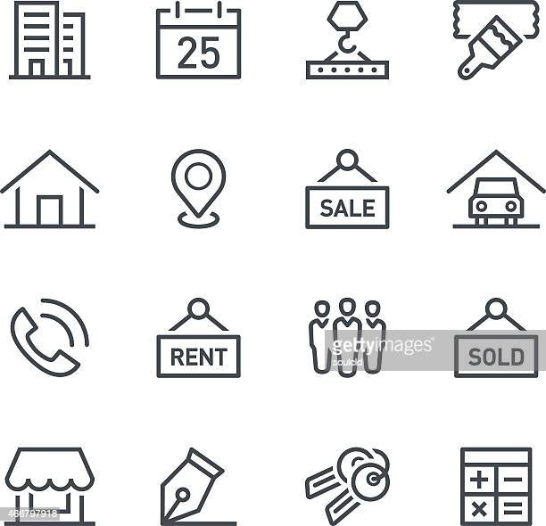 Icônes d'immobilier