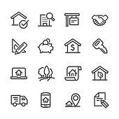 Real Estate Icons Set - Line Series