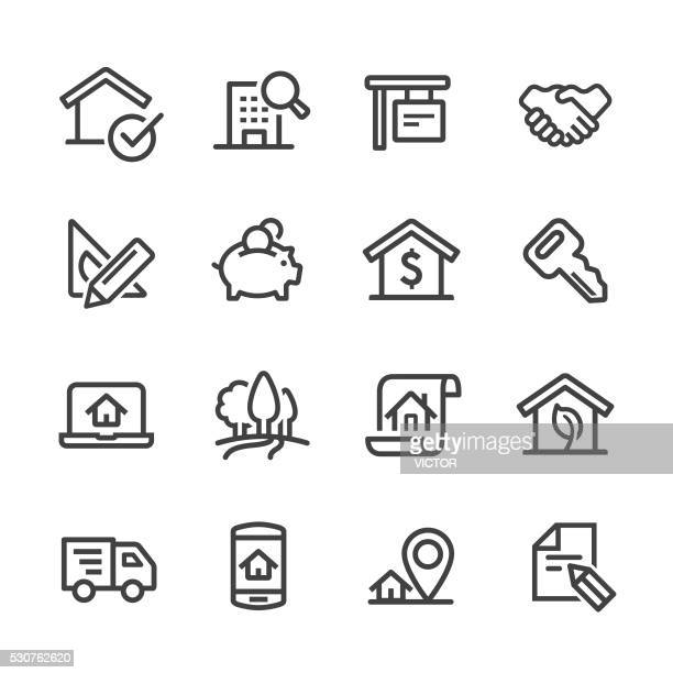 Real Estate Icons Set - Line Series
