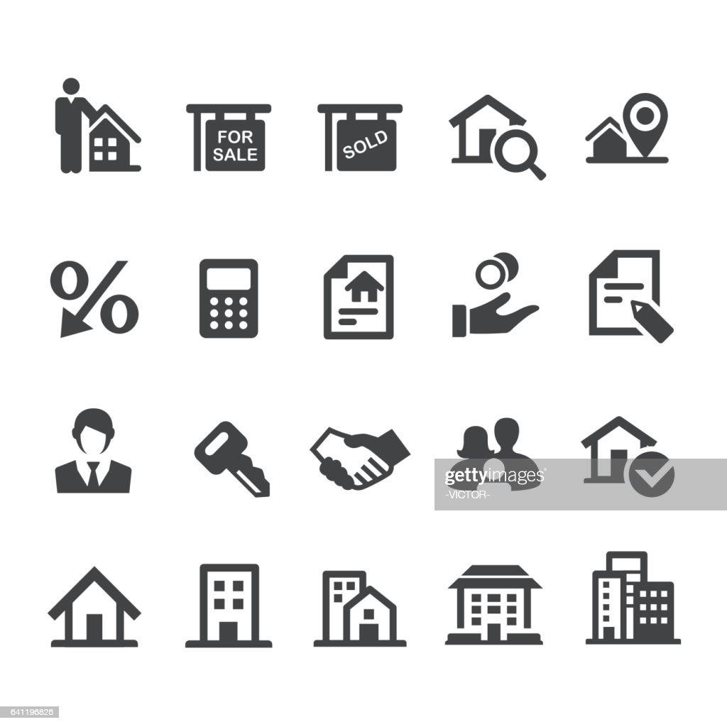 Real Estate Icons Set - Smart Series