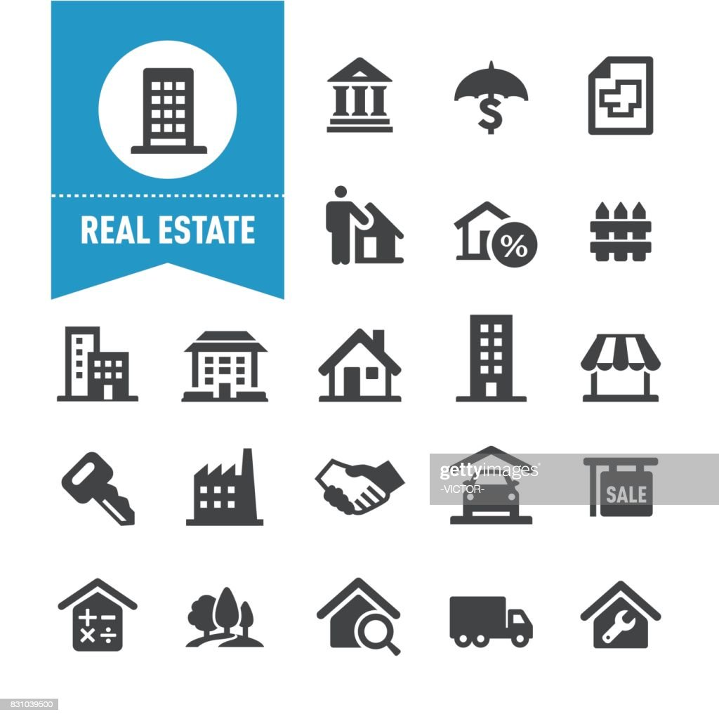 Real Estate Icons - Special Series : Stock Illustration