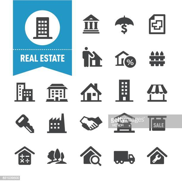 real estate icons - special series - finance and economy stock illustrations