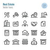 Real Estate Icons - Vector Line Series