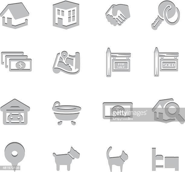 ilustraciones, imágenes clip art, dibujos animados e iconos de stock de inmobiliaria impresión de símbolos - bañera con patas