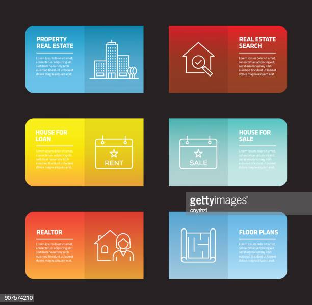 real estate infographic design template - house rental stock illustrations, clip art, cartoons, & icons