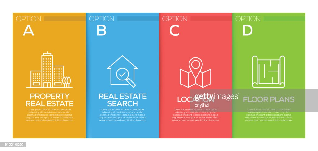 real estate infographic design template vector art getty images