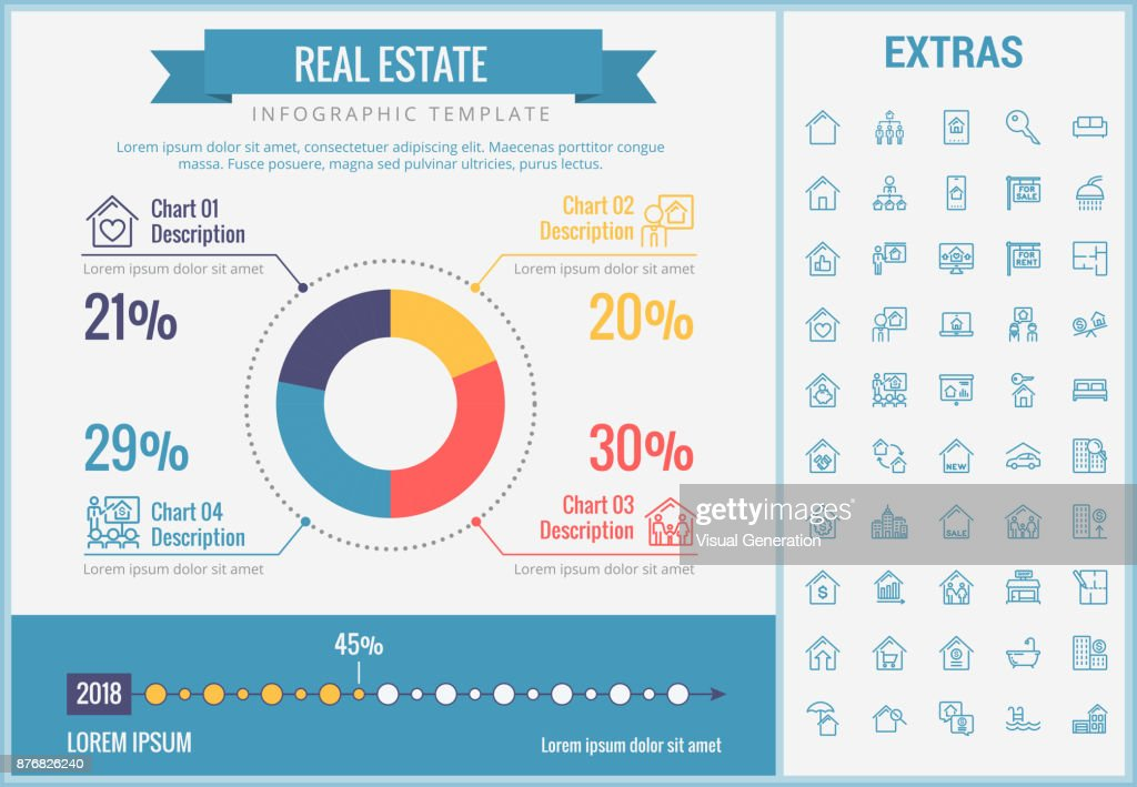 real estate infographic template elements icons vector art getty