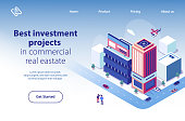 Real Estate Investment Project Vector Website