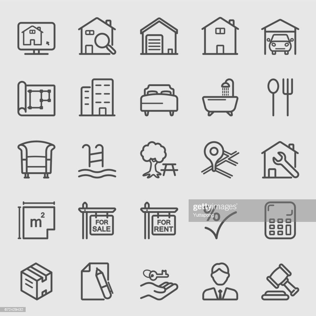 Real estate line icon