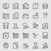 Real estate line icon