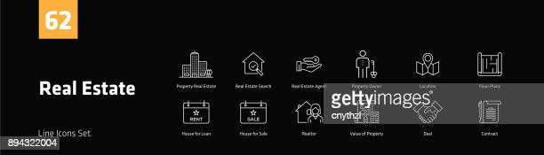 Real Estate Line Icons Set