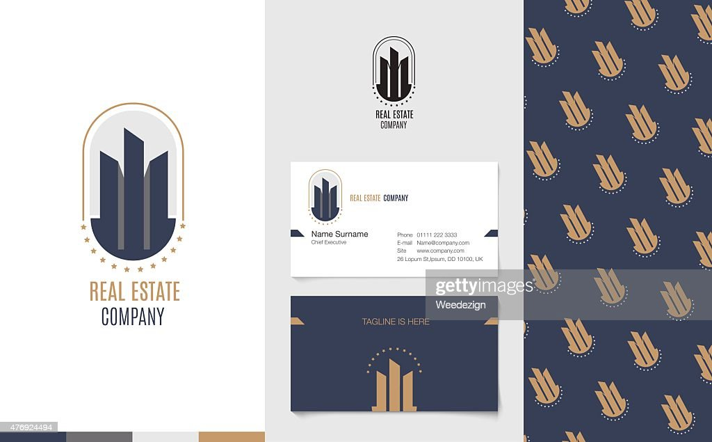 Real Estate Logo with business name card and corporate