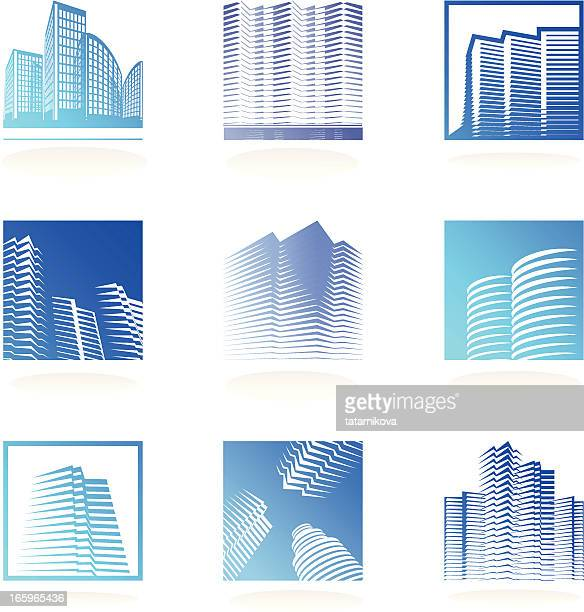 real estate logos set