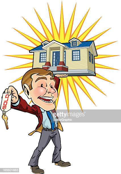 real estate man - closing stock illustrations, clip art, cartoons, & icons