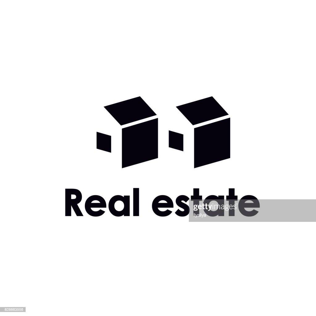 Real estate negative space icon