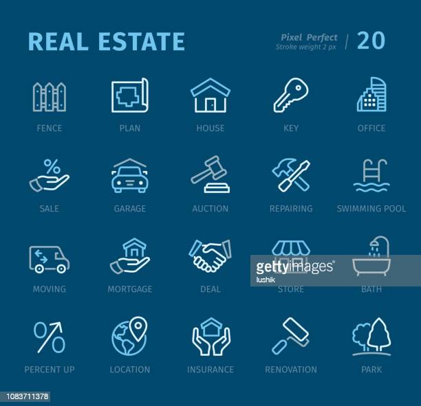 Real Estate - Outline icons with captions