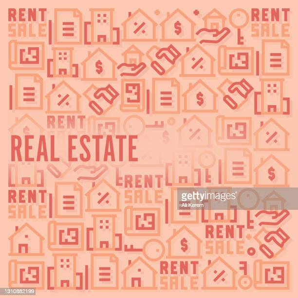 real estate pattern - mortgage stock illustrations