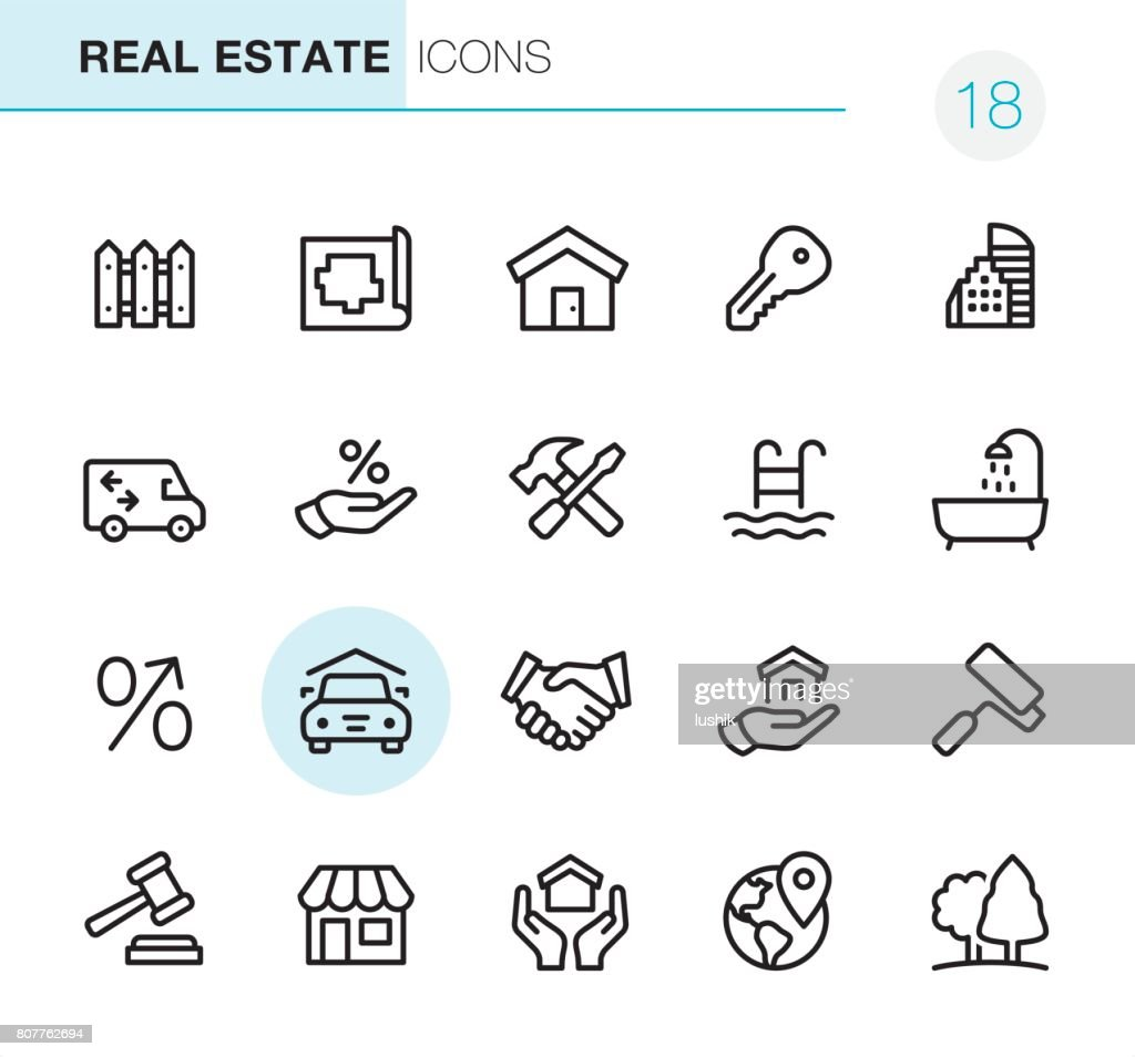 Real Estate - Pixel Perfect icons