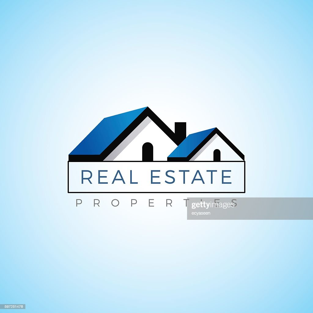 Real estate property realty logo vector template.